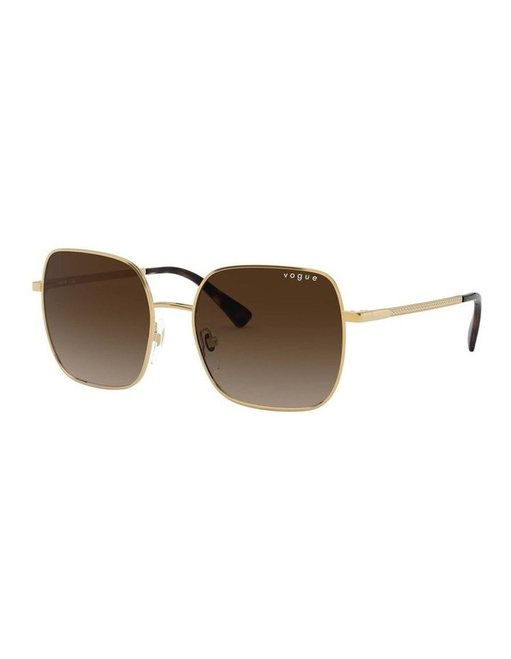 Brown Metal Square Sunglasses 0VO4175SB 1530806002 image 1