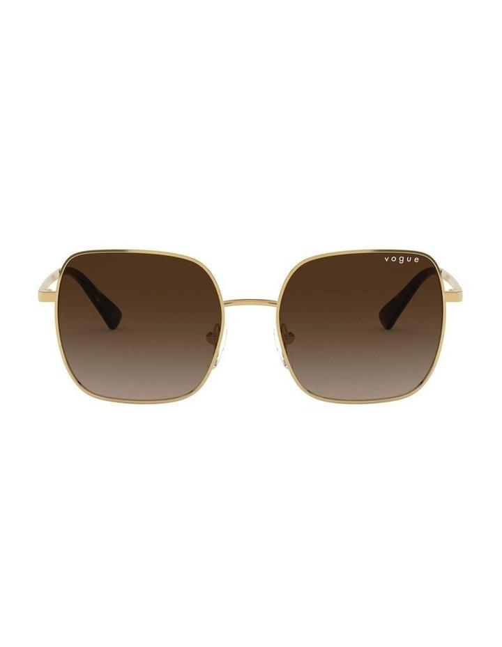 Brown Metal Square Sunglasses 0VO4175SB 1530806002 image 2