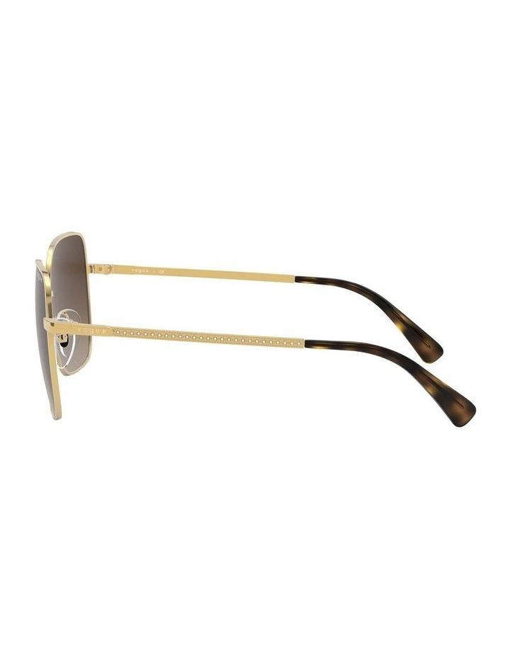 Brown Metal Square Sunglasses 0VO4175SB 1530806002 image 4