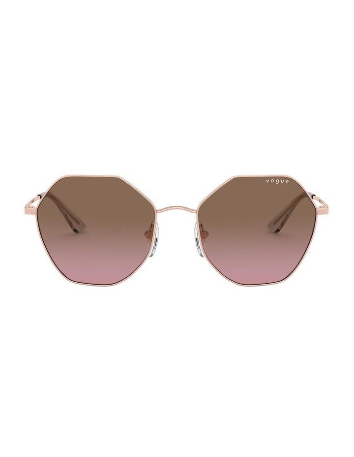 Brown Metal Hexagon Sunglasses 0VO4180S 1530808004 image 1