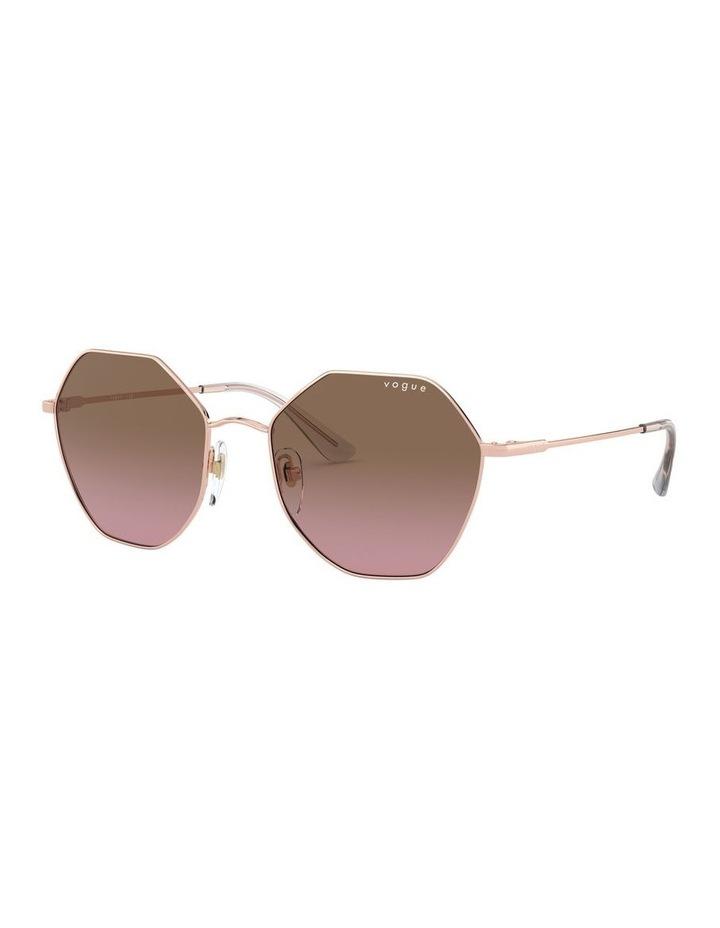 Brown Metal Hexagon Sunglasses 0VO4180S 1530808004 image 2