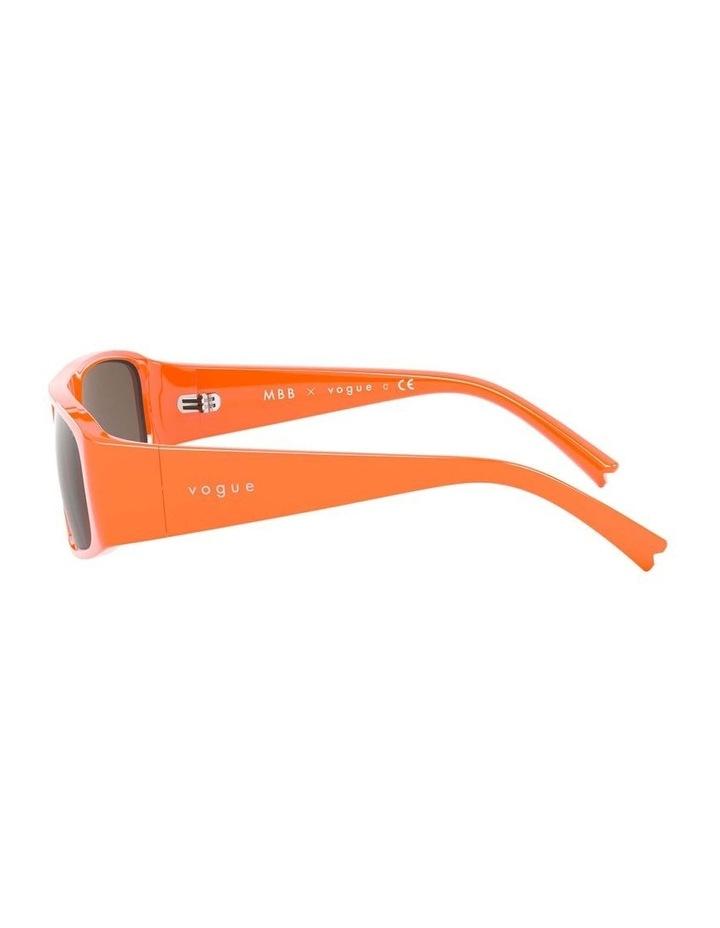 Brown Rectangle Sunglasses 0VO5318S 1530811003 image 4