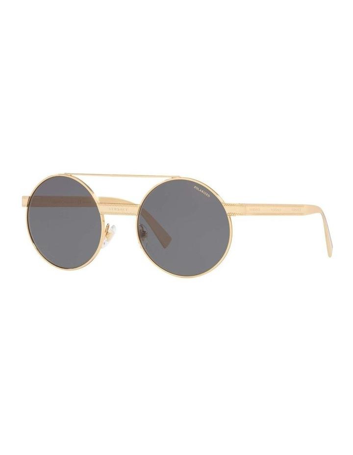 Grey Double Bridge Round Sunglasses 0VE2210 1524110005 image 1