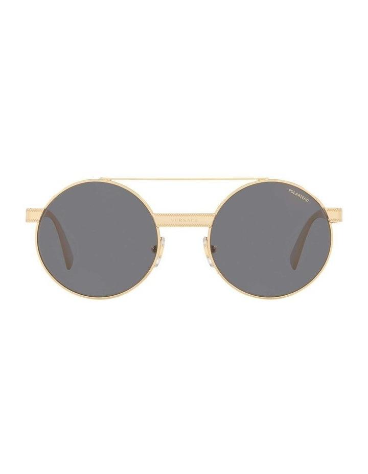Grey Double Bridge Round Sunglasses 0VE2210 1524110005 image 2