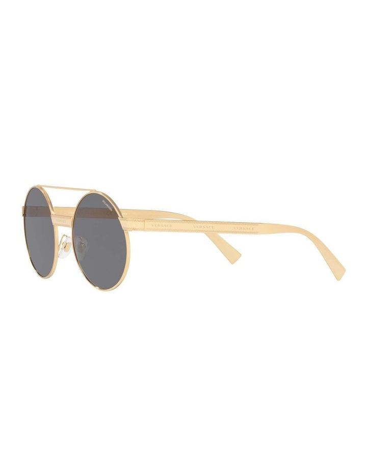Grey Double Bridge Round Sunglasses 0VE2210 1524110005 image 3