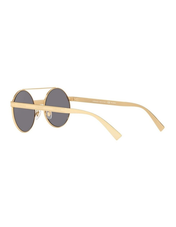 Grey Double Bridge Round Sunglasses 0VE2210 1524110005 image 5