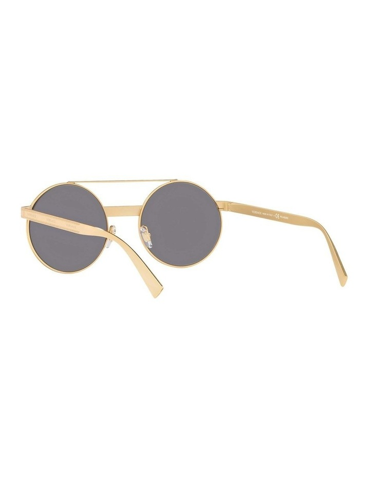 Grey Double Bridge Round Sunglasses 0VE2210 1524110005 image 6