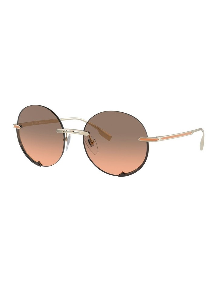 Brown Rimless Round Sunglasses 0BV6153 1533986002 image 1