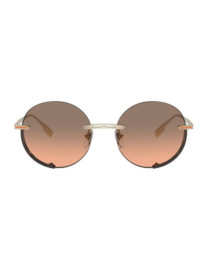 Brown Rimless Round Sunglasses 0BV6153 1533986002 image 2