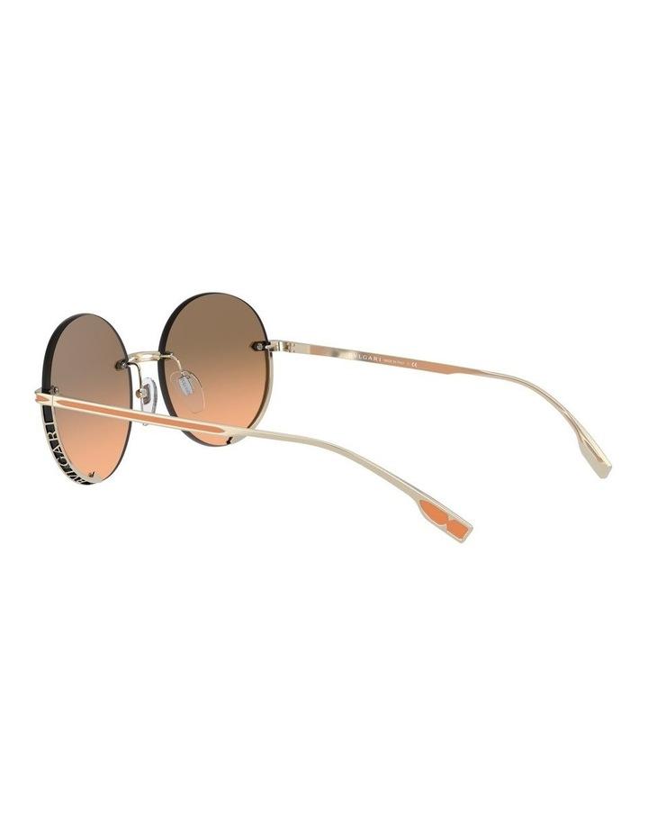 Brown Rimless Round Sunglasses 0BV6153 1533986002 image 5