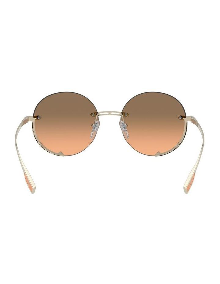 Brown Rimless Round Sunglasses 0BV6153 1533986002 image 7