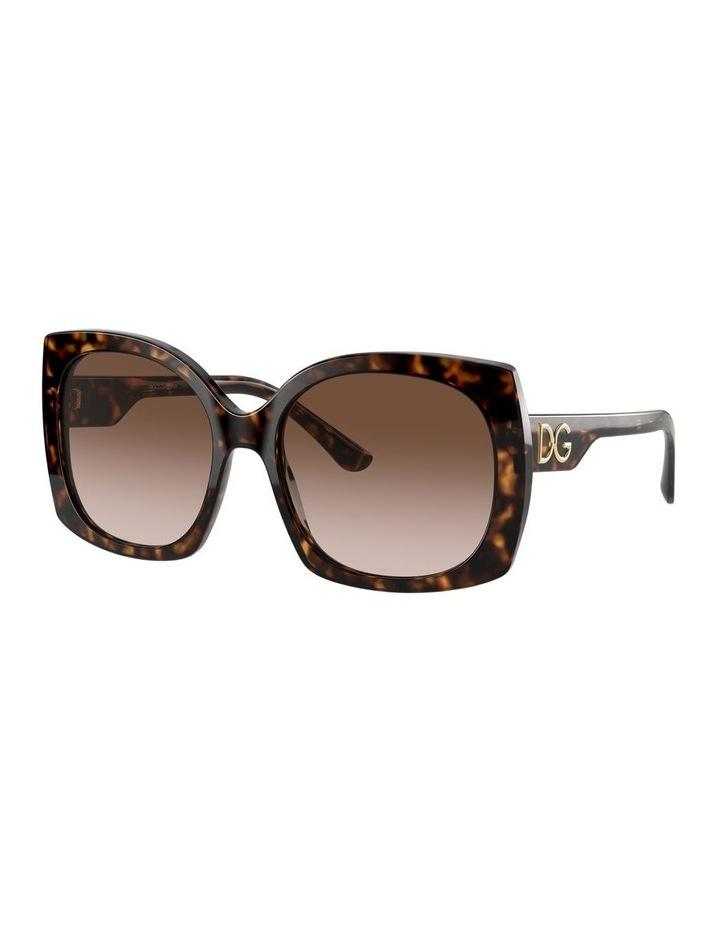 Tortoise Square Sunglasses 0DG4385 1534323004 image 1