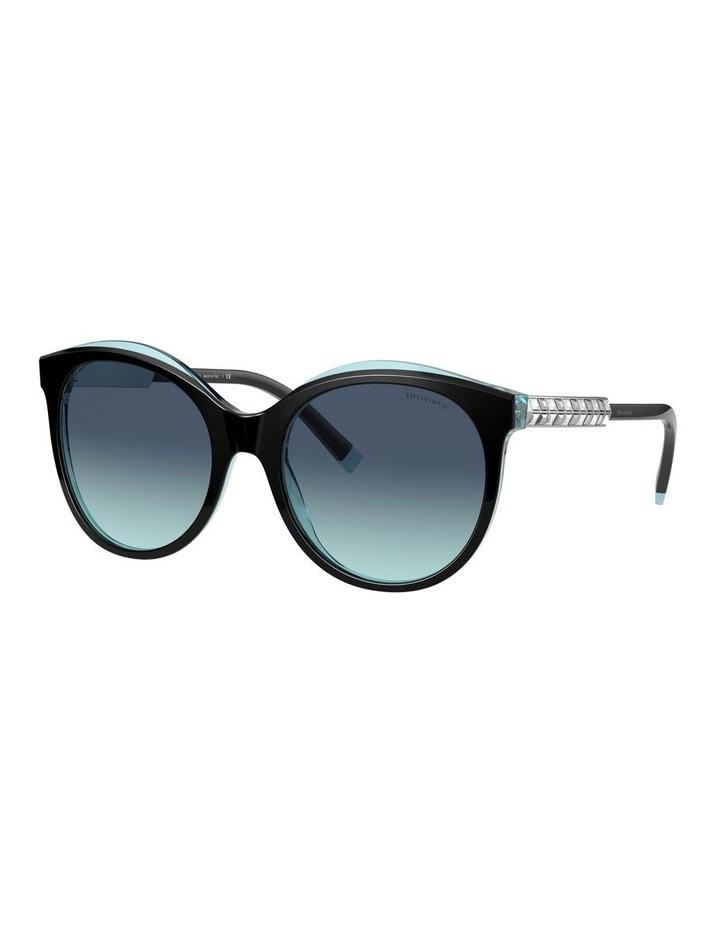 Black/Tiffany Blue Round Sunglasses 0TF4175B 1533991005 image 1