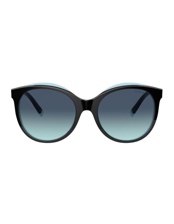 Black/Tiffany Blue Round Sunglasses 0TF4175B 1533991005 image 2