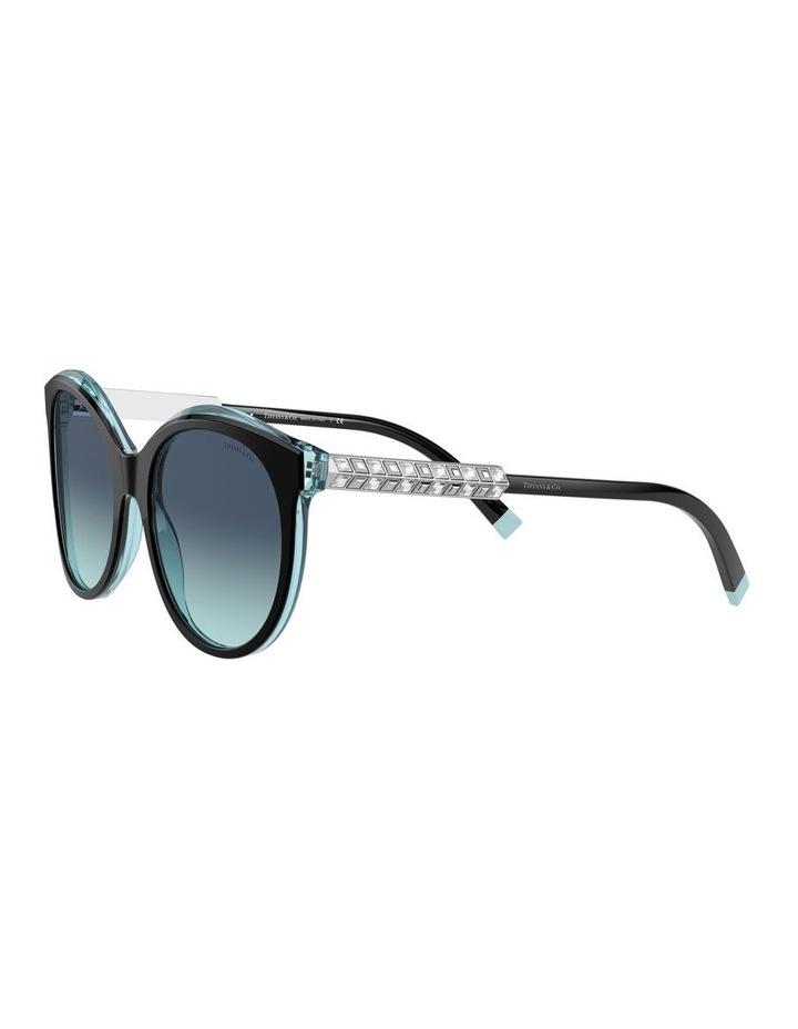 Black/Tiffany Blue Round Sunglasses 0TF4175B 1533991005 image 3