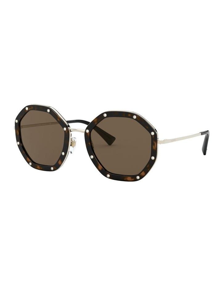 Pale Gold Havana Round Sunglasses 0VA2042 1531677001 image 1