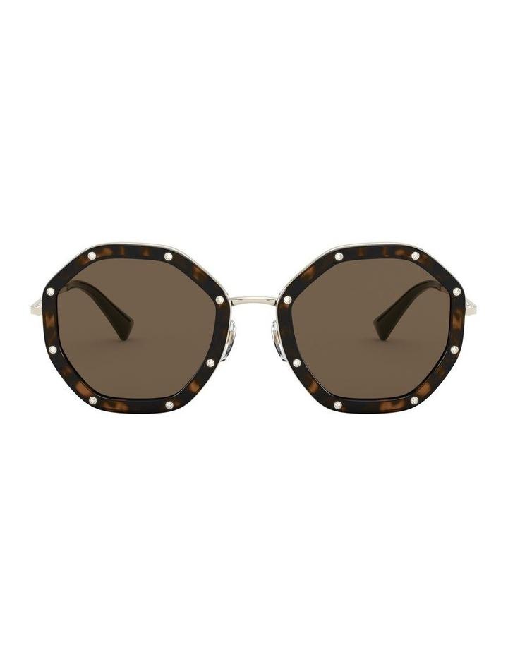Pale Gold Havana Round Sunglasses 0VA2042 1531677001 image 2