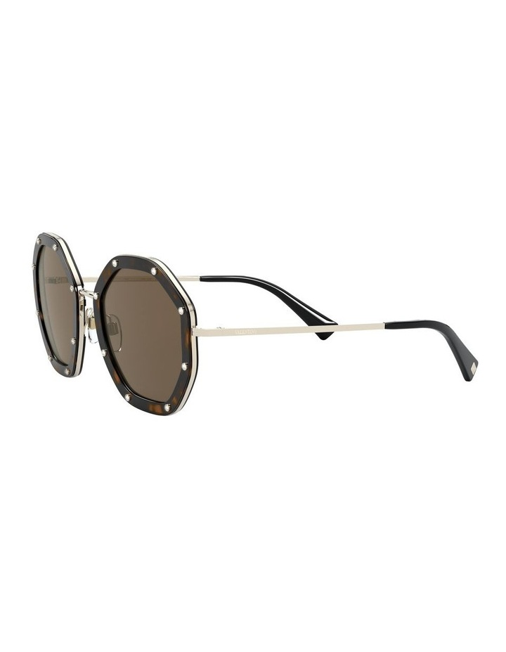 Pale Gold Havana Round Sunglasses 0VA2042 1531677001 image 3