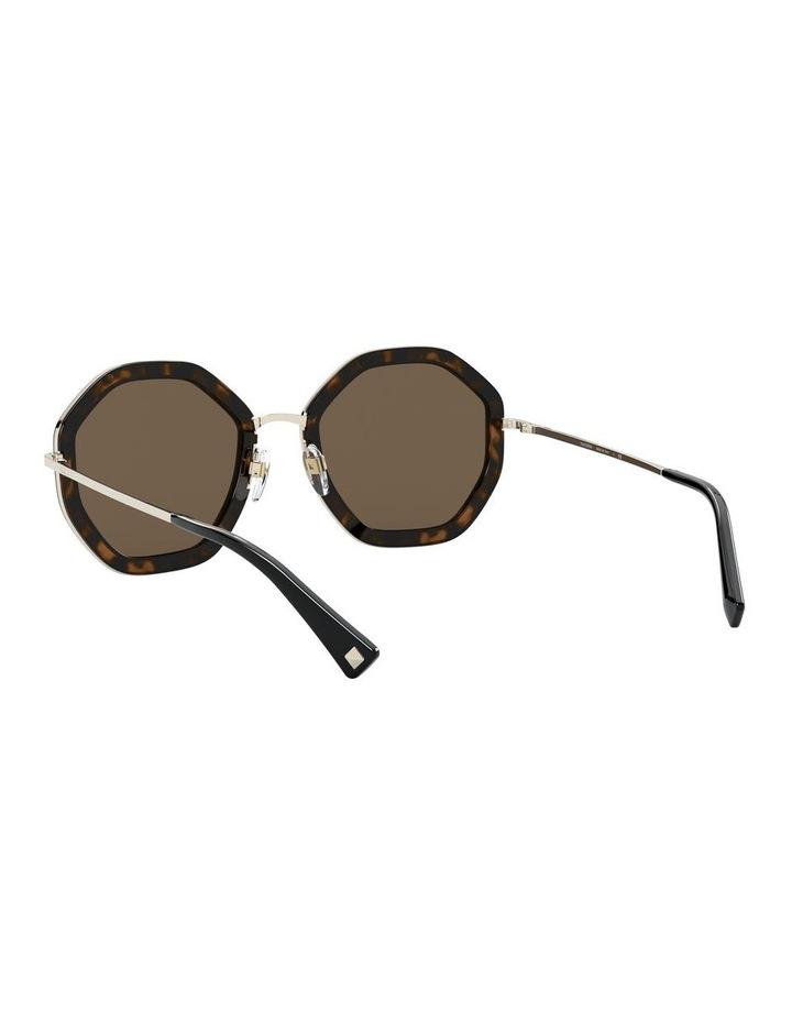 Pale Gold Havana Round Sunglasses 0VA2042 1531677001 image 6