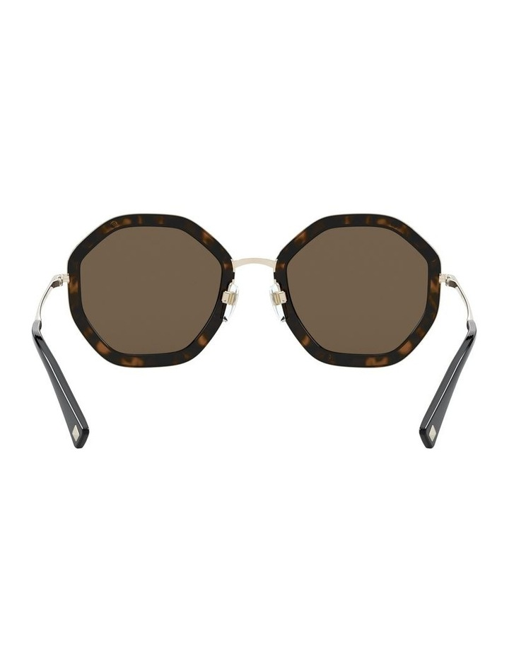 Pale Gold Havana Round Sunglasses 0VA2042 1531677001 image 7