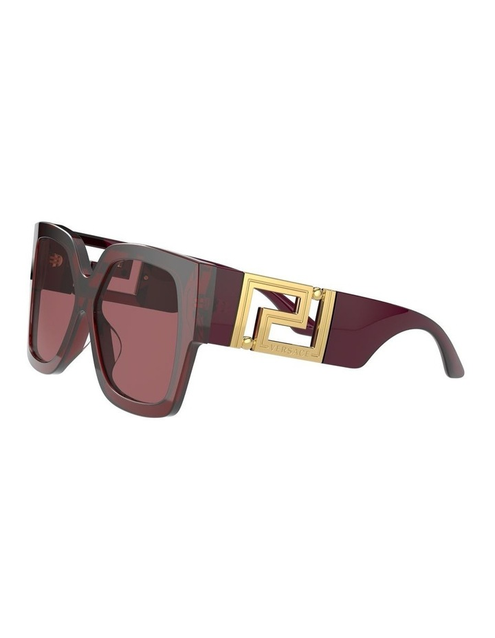 Maroon Square Sunglasses 0VE4402 1534357001 image 3