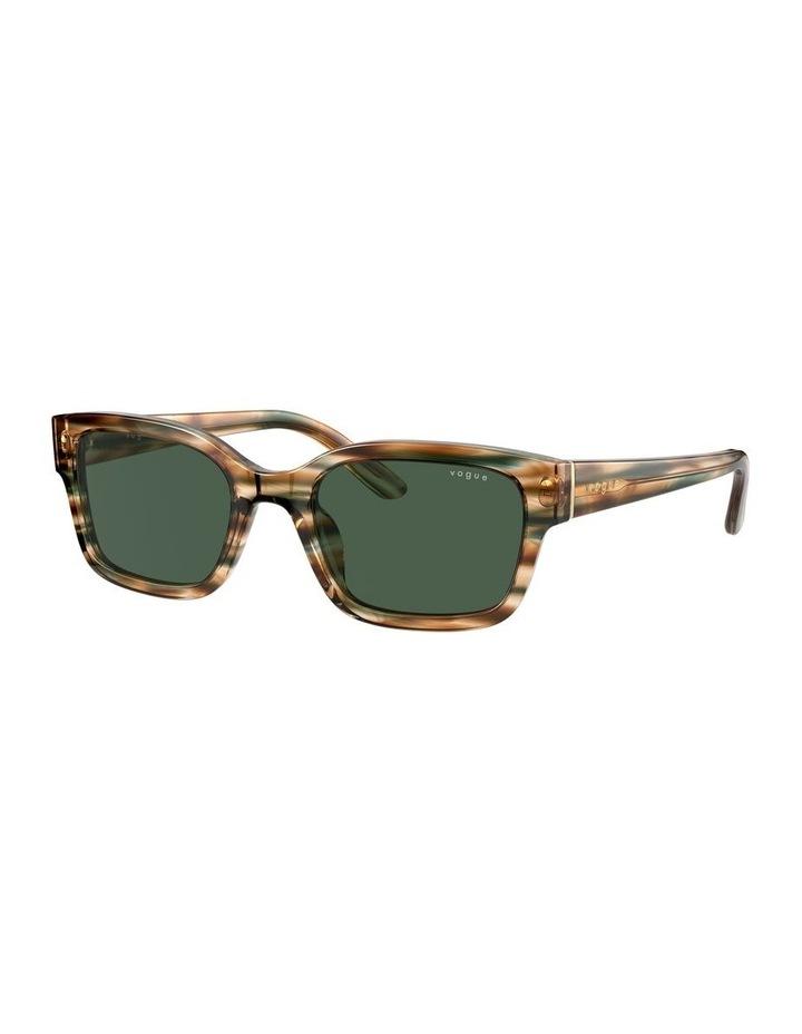 Yellow Check Rectangle Sunglasses 0VO5357S 1533990005 image 1