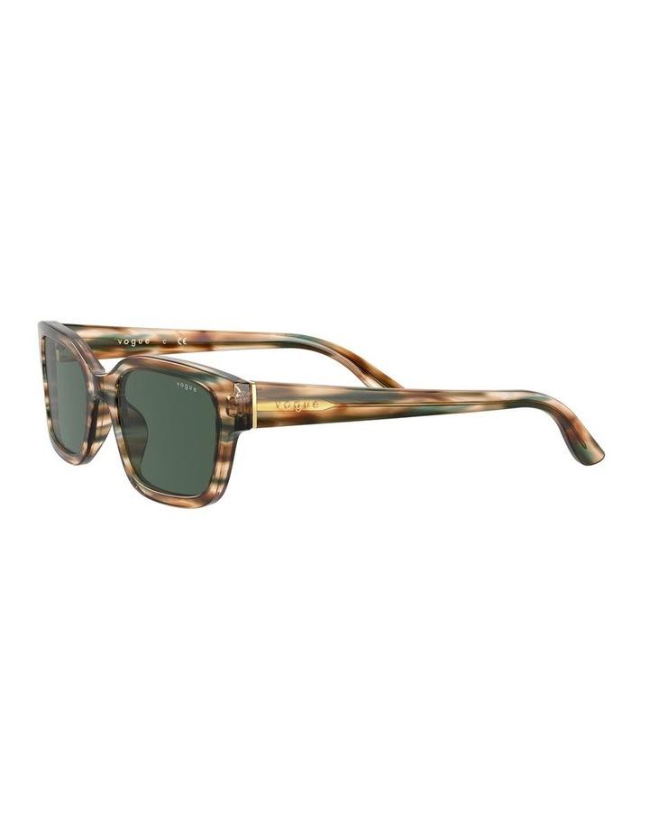 Yellow Check Rectangle Sunglasses 0VO5357S 1533990005 image 3