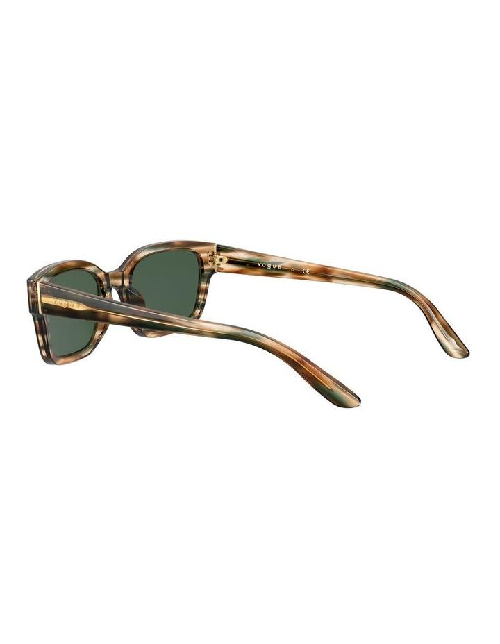 Yellow Check Rectangle Sunglasses 0VO5357S 1533990005 image 5
