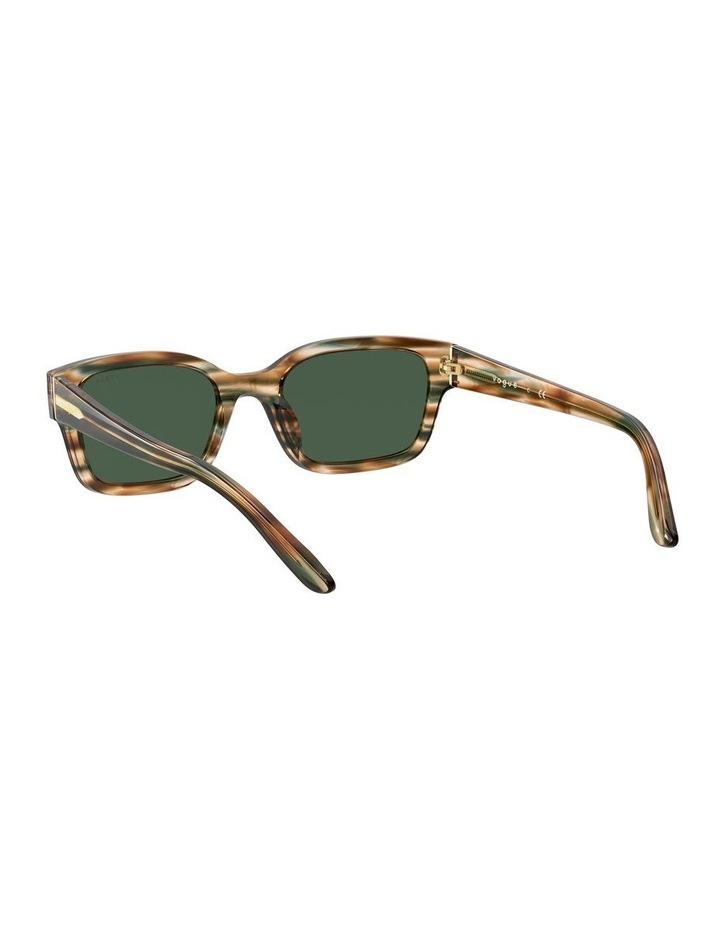 Yellow Check Rectangle Sunglasses 0VO5357S 1533990005 image 6