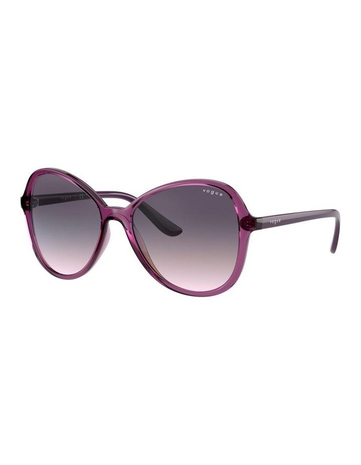 Grape Oversized Round Sunglasses 0VO5349S 1534316001 image 1