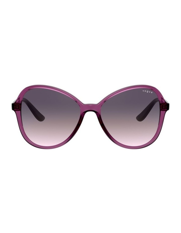 Grape Oversized Round Sunglasses 0VO5349S 1534316001 image 2