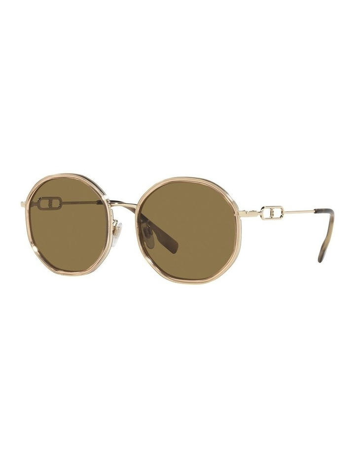 Gold Round Sunglasses 0BE3127D image 1