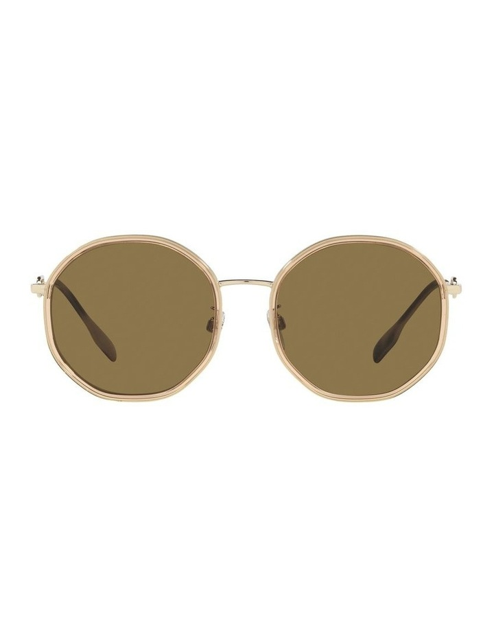 Gold Round Sunglasses 0BE3127D image 2