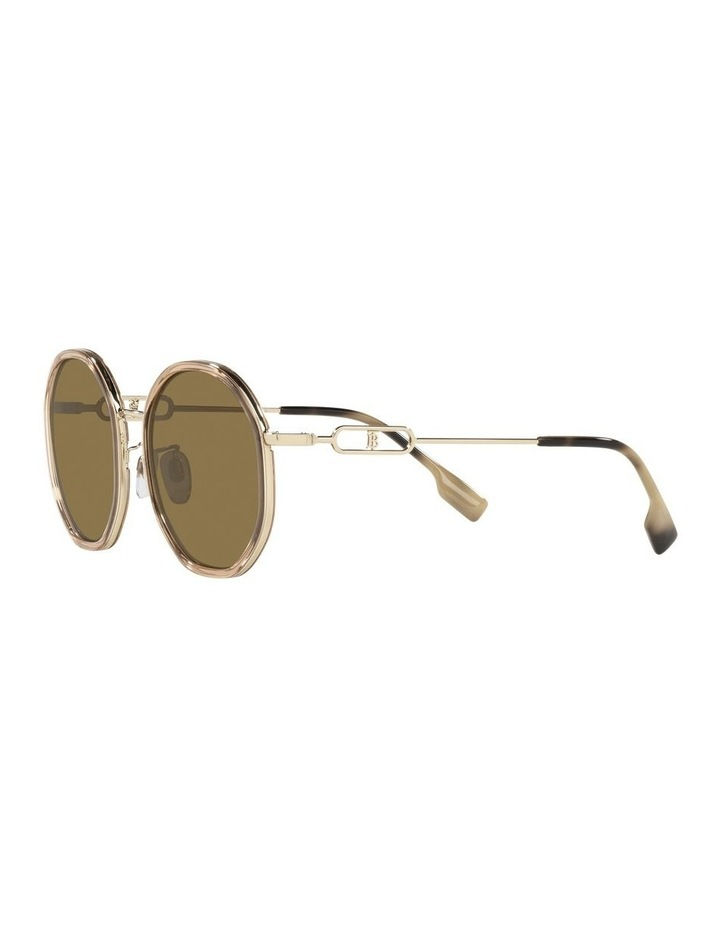 Gold Round Sunglasses 0BE3127D image 3