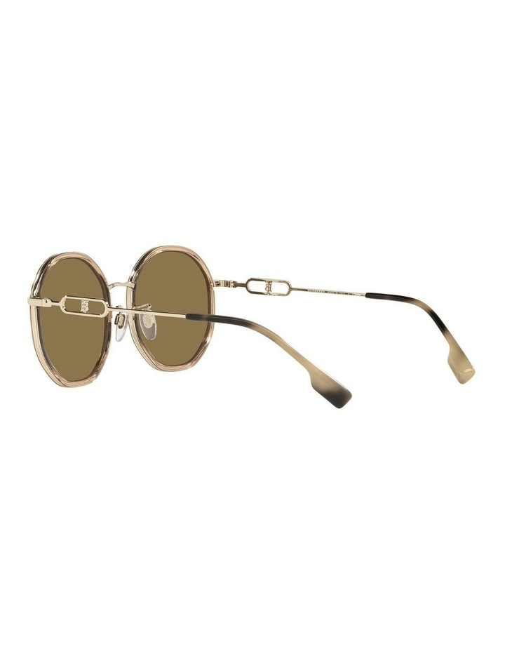 Gold Round Sunglasses 0BE3127D image 5
