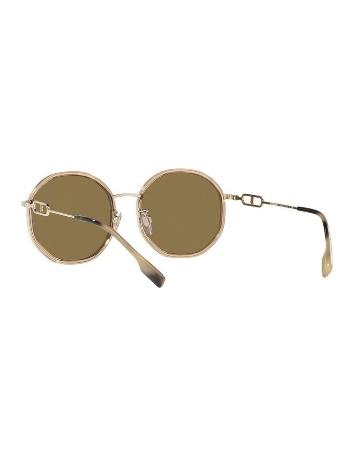 Gold Round Sunglasses 0BE3127D image 6