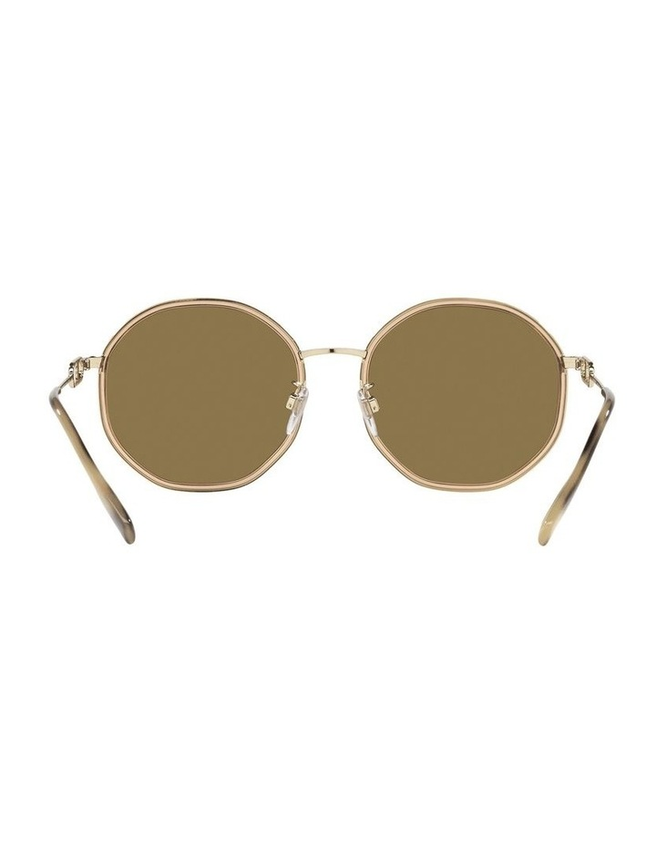 Gold Round Sunglasses 0BE3127D image 7