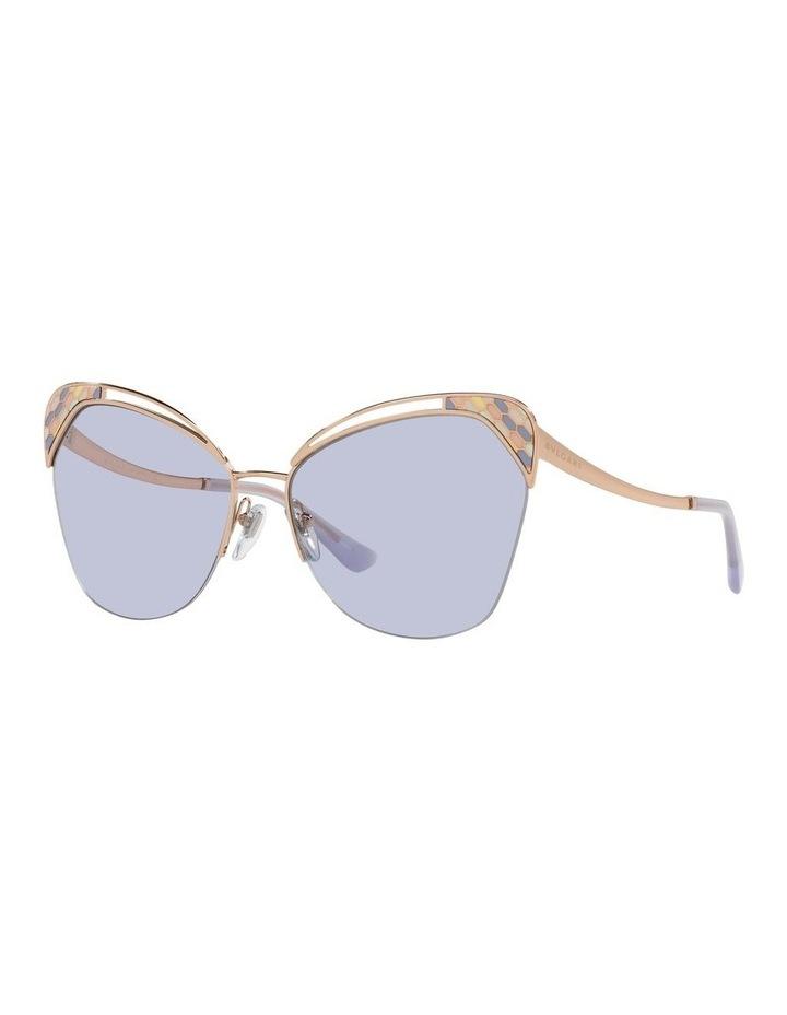 Gold/Lilac Cat Eye Sunglasses 0BV6161 image 1