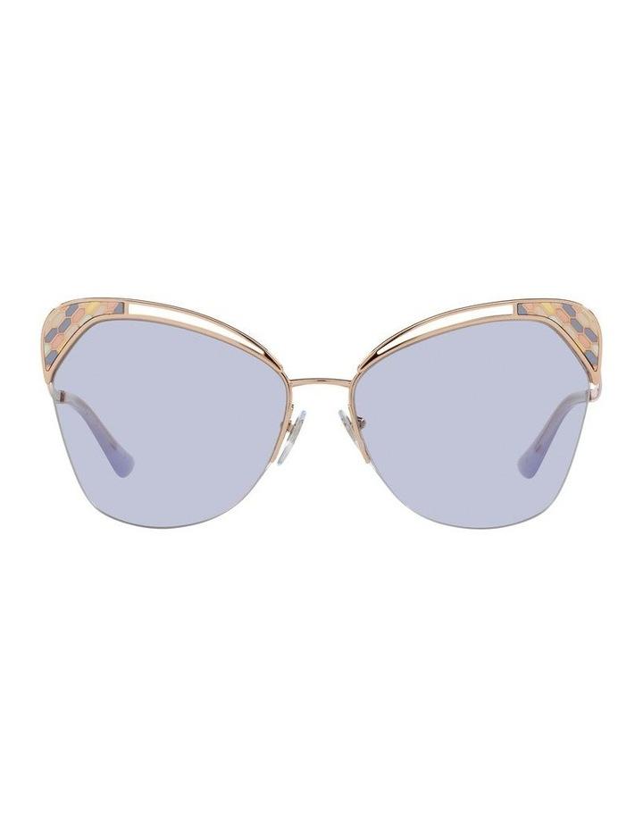 Gold/Lilac Cat Eye Sunglasses 0BV6161 image 2