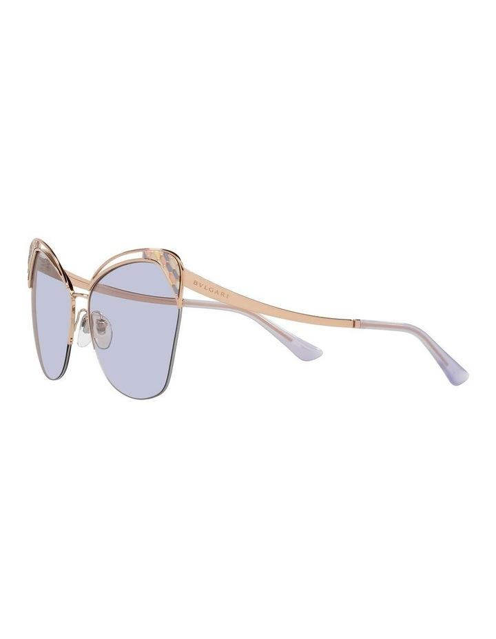 Gold/Lilac Cat Eye Sunglasses 0BV6161 image 3