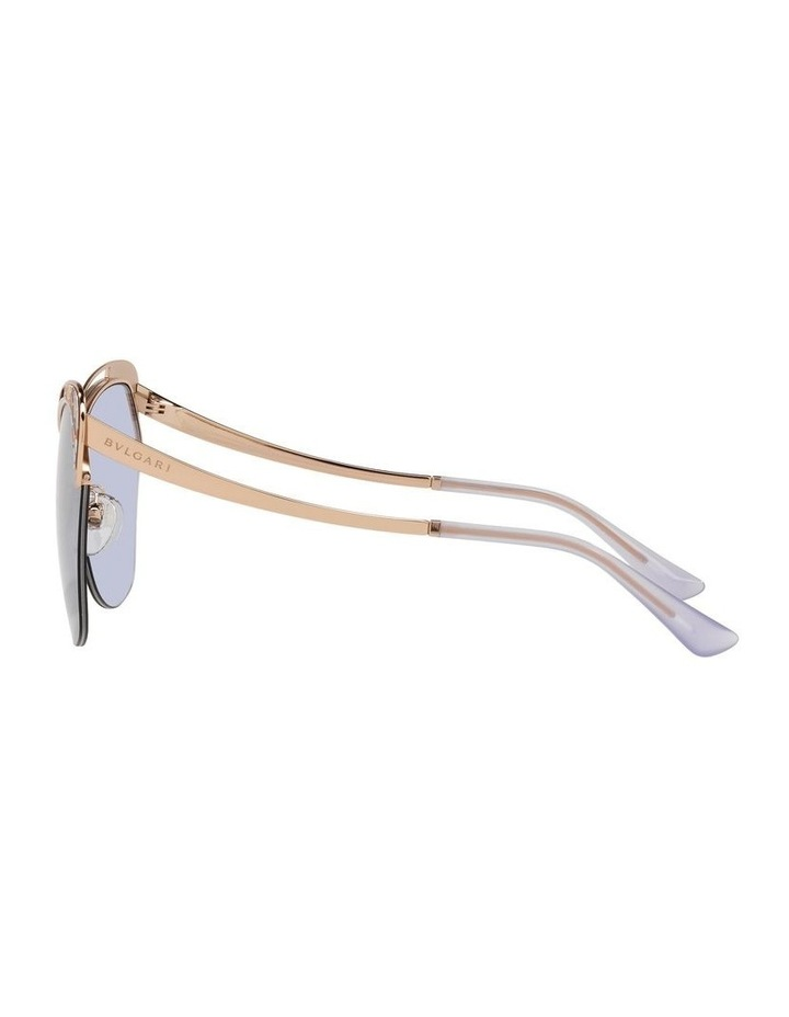 Gold/Lilac Cat Eye Sunglasses 0BV6161 image 4
