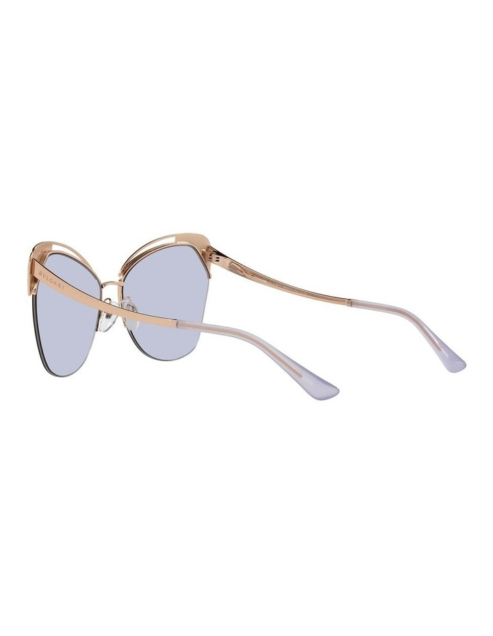 Gold/Lilac Cat Eye Sunglasses 0BV6161 image 5