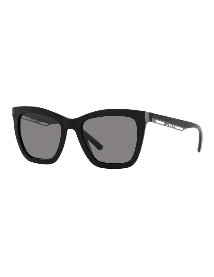 Polarised Black Rectangle Sunglasses 0BV8233 image 1