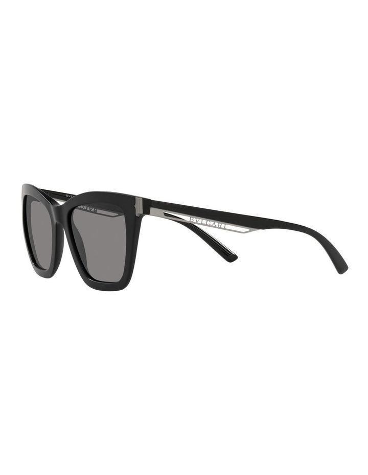 Polarised Black Rectangle Sunglasses 0BV8233 image 3