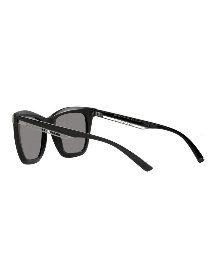 Polarised Black Rectangle Sunglasses 0BV8233 image 5