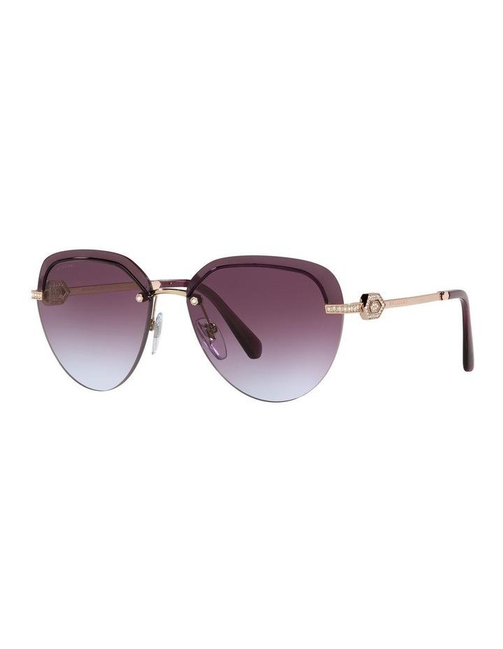 Gold/Purple Rimless Aviator Sunglasses 0BV6154B image 1