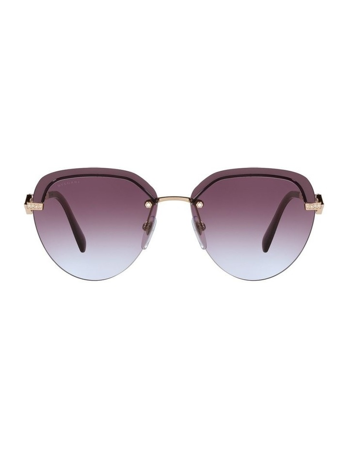 Gold/Purple Rimless Aviator Sunglasses 0BV6154B image 2