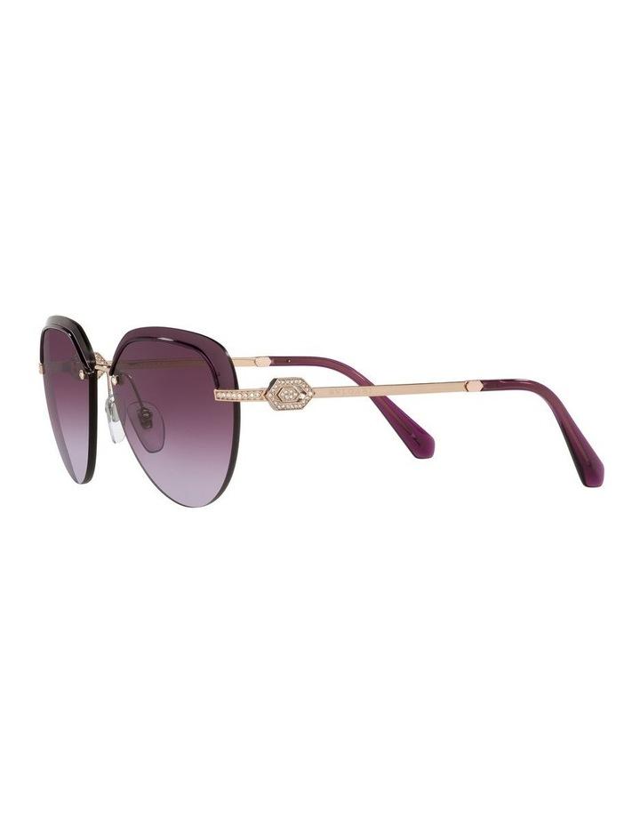 Gold/Purple Rimless Aviator Sunglasses 0BV6154B image 3