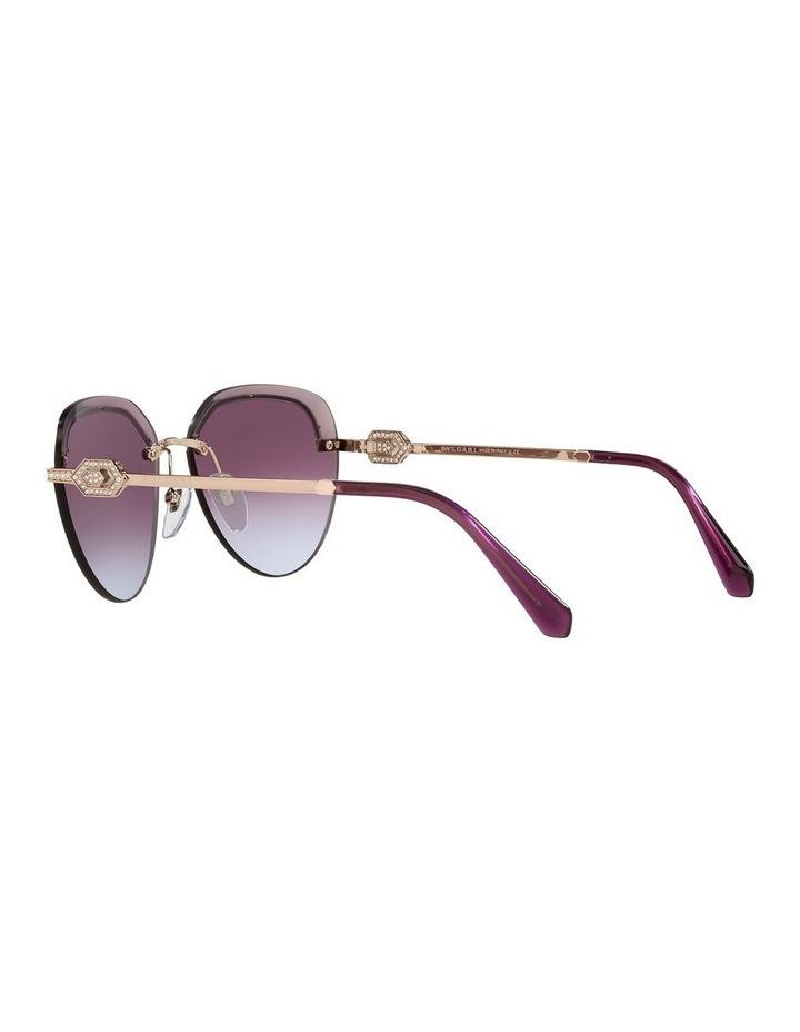 Gold/Purple Rimless Aviator Sunglasses 0BV6154B image 5