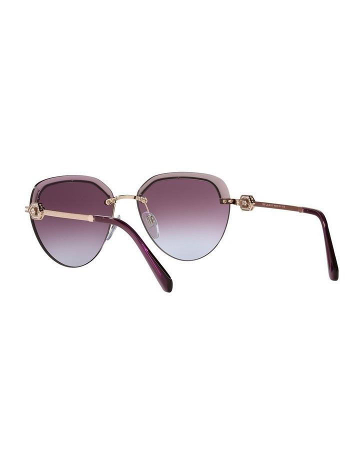 Gold/Purple Rimless Aviator Sunglasses 0BV6154B image 6